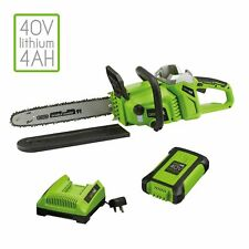 Aerotek X2 Cordless Chainsaw 40V Lithium-ion Lightweight Brushless Motor 6600rpm