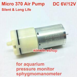 Small Mini 370 Motor Air Pump DC 6V 12V DIY Sphygmomanometer Fish Tank Aquarium