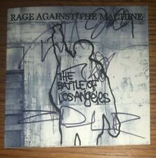 Rage Against The Machine (4) Signed Cd Battle For Los Angeles Zach Tom Tim Brad