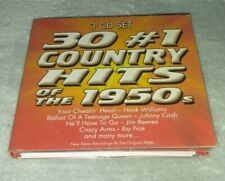 30 #1 Country Hits Of the 1950s Digipak CD, 3-Discs