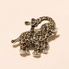 Good Luck Charm Elephant Unisex Fashion Brooch Pin 925 Sterling Silver New Love