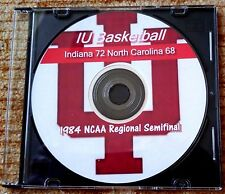 DVD INDIANA - N CAROLINA 1984 NCAA MEN'S BB REGIONAL SEMI - INDIANA 72 #1 UNC 68