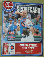 JULY 25 2015 CUBS UNUSED SCORE CARD WRIGLEY COLE HAMELS PHILLIES NO HITTER NO NO