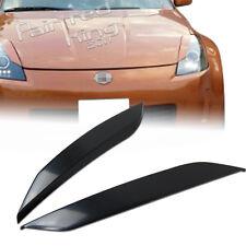 Stock in LA!ABS UNPAINT FOR NISSAN 350Z Z33 FAIRLADY Z HEADLIGHT EYELID COVER