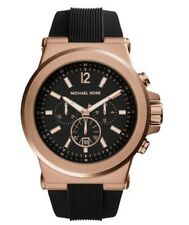 MICHAEL KORS Men Oversized Dylan Rose Gold-Tone and Silicone Watch MK 8184