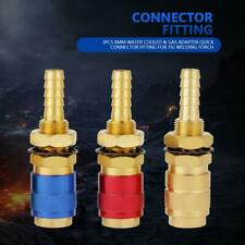 M8 3pc Brass Water Cooled & Gas Adapter Quick Connector For MIG TIG Welder Torch