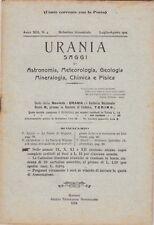 Urania, rivista, 1924, anno XIII n. 4, astronomia, mineralogia, chimica, fisica