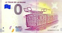 BILLET 0  EURO LE TRAIN DE LA RHUNE  FRANCE  2018  NUMERO 100