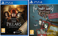 the pillars of the earth & the inner world the last wind monk     ps4 new&sealed