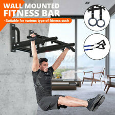 US Wall Mount Pull up Bar Chin Home Indoor Gym Exercise Equipment Upper Workout