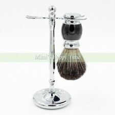 Best Pure Badger Black Silvertip Hair Shaving Brush Razor Shaving Stand S Steel