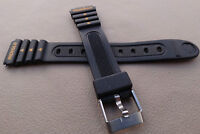 New Ladies Timex Ironman Triathlon 15mm Black Rubber Sport Watch Band Indiglo