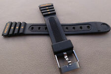 LADIES KIDS SMALL Timex Ironman Triathlon 15mm Black Sport Watch Band Indiglo