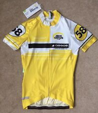 """Small Adult Assos Six Days Yellow Cycling JERSEY Size XS 33"""" Chest"""