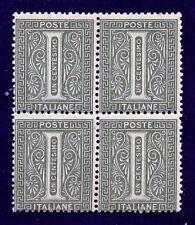 1863 DE LA RUE 1c.verde grigio chiaro Tiratura Londra quartina Cat Bolaffi n 68A