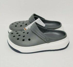 Crocs Full Force Clog 206122-07I Size Mens 11 Slate Gray White