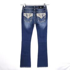 """Miss Me Women's Jeans Size 24 Style MP 7704b Boot Cut Mid-rise Inseam 34"""""""