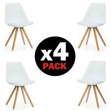 Pack 4 sillas de comedor Blancas silla diseño nórdico modelo Artic