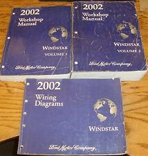 Original 2002 Ford Windstar Shop Service Manual 1 & 2 + Wiring Diagram Set 02