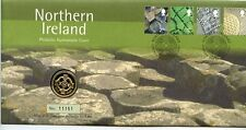 2001 £1 Limited Edition Northern Ireland  First Day Stamp Cover with Coin