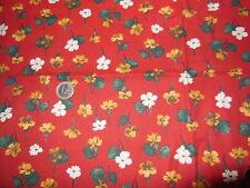 Ancien coupon de tissus Vintage fleurit - linge ancien