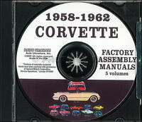 ASSEMBLY MANUAL 1960 CORVETTE ALL MODELS