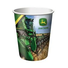 8 John Deere Farm Tractor Happy Birthday Party 9oz Paper Cups