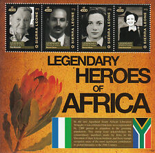 Sierra Leone 2011 MNH Legendary Heroes Africa 4v M/S Baruch Hirson Kitson Stamps