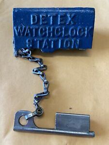 """DETEX WATCHMAN CLOCK WITH 9"""" CHAIN AND KEY"""