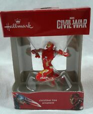 Hallmark Marvel Captain America Iron Man Christmas Tree Ornament