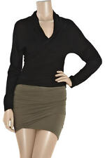 new 100% genuine DONNA KARAN silk cashmere  black wrap cardigan-BNWT-DKNY £890
