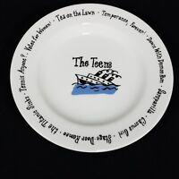 "Pottery Barn Teens Millennium Salad Dessert Plate Birthday Decade 8 1/4"""