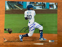 Mookie Betts Hand Signed Autographed Los Angeles Dodgers 8x10 Photo W/COA