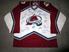 COLORADO AVALANCHE 2016-17 Team SIGNED Autographed JERSEY COA Mackinnon Duchene