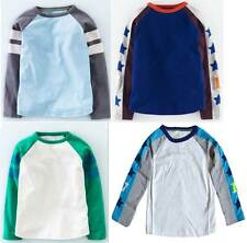 Mini Boden Boys long sleeve sporty raglan tee tshirt top cotton jersey sports
