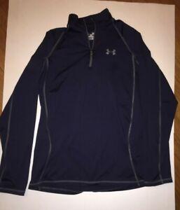 Men's Under Armour Dark Blue coldgear Pullover with 1/4 Zip Size M