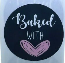 Baked With Love Stickers for Home Baking Gift Packaging Seals Craft