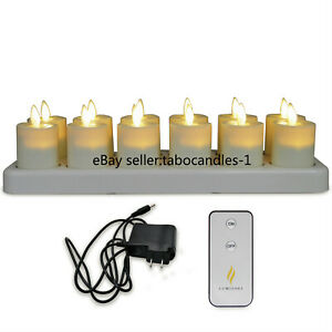 Luminara Flameless Rechargeable Led Tea Lights Ivory Votive Candles for Church