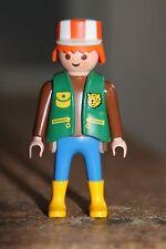 PLAYMOBIL - personnage - HOMME Dresseur zoo animaux casquette uniforme lion bott