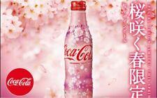 2019 Coca Cola Japan Limited Sakura Cherry Blossom Aluminum Can 1 X full bottle