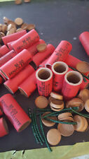 PYRO TUBE KIT STAMPED M-80 25 SENIOR VERY EASY TO MAKE FUSE,ENDS INC. 2 1/8x3/4