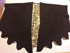 Alberto Makali Wool Blend Brown Long Sleeve Open front  WOmen's Sweater S/M R14