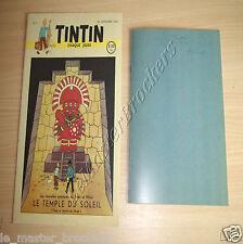 JOURNAL TINTIN n°1 1946 Temple du Soleil Hergé + Brouillon cahier Hergé Tintin