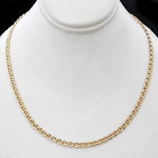 """MENS 22""""   3.5mm MARINER Link 24k 14K Yellow GOLD GL CHAIN Necklace   LIFE GUAR"""