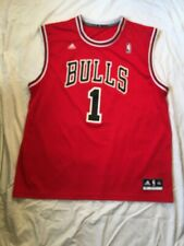 Adidas NBA Authentic Sewn Jersey Chicago Bulls Derrick Rose 1 Red XXL Vintage