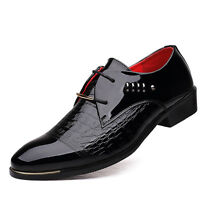 Fashion Men's Dress Oxfords Formal Leather Business Shoes Pointed Casual Grain