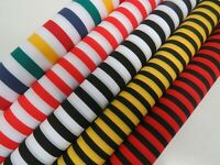 Candy Stripe Polycotton Fabric Striped Lines Material Craft Bunting 115cm Wide