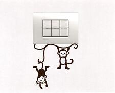 Scimmiette Adesivi per presa interruttore parete cameretta casa wall stickers