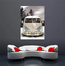 CALIFORNIA CAMPER VW BUS VAN CAR NEW GIANT WALL ART PRINT PICTURE POSTER OZ166