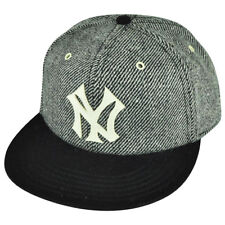 MLB American Needle New York Yankees Strap Back Gray Black Striped Wool Hat Cap
